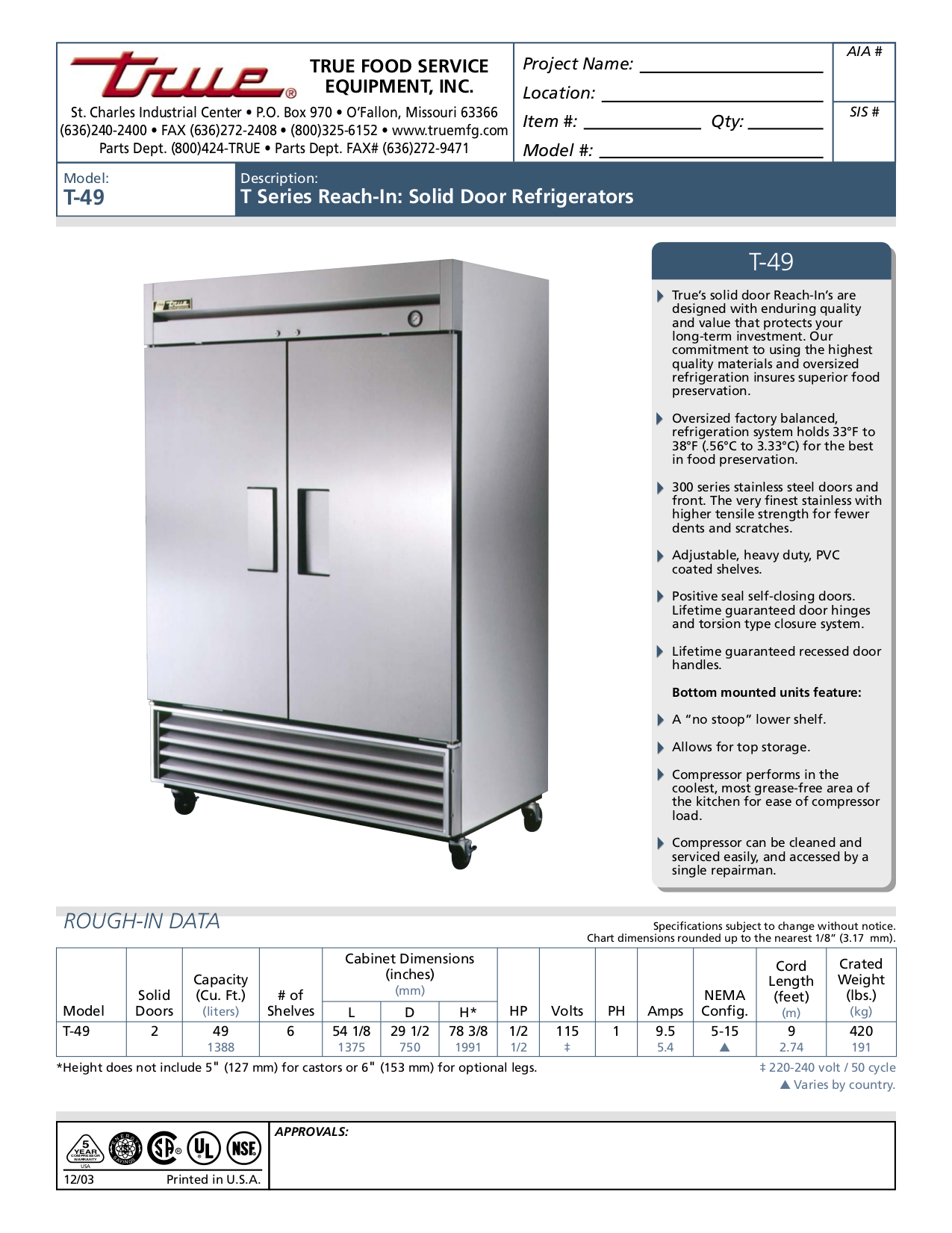 True Ts 49 Wiring Diagram Free Download 49f Freezer Get Image About Pdf For T Refrigerator Manual At