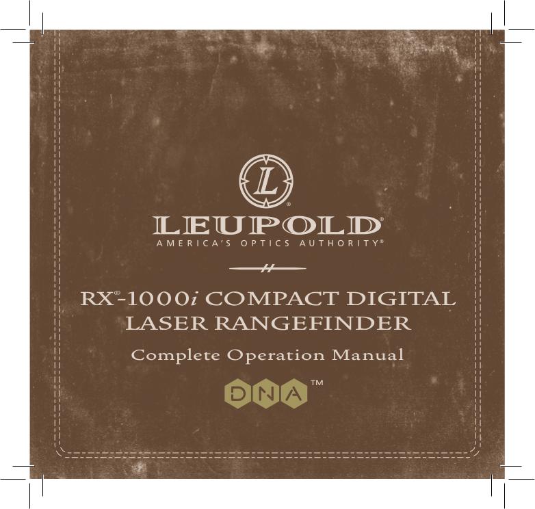 pdf for Leupold Binocular RX manual