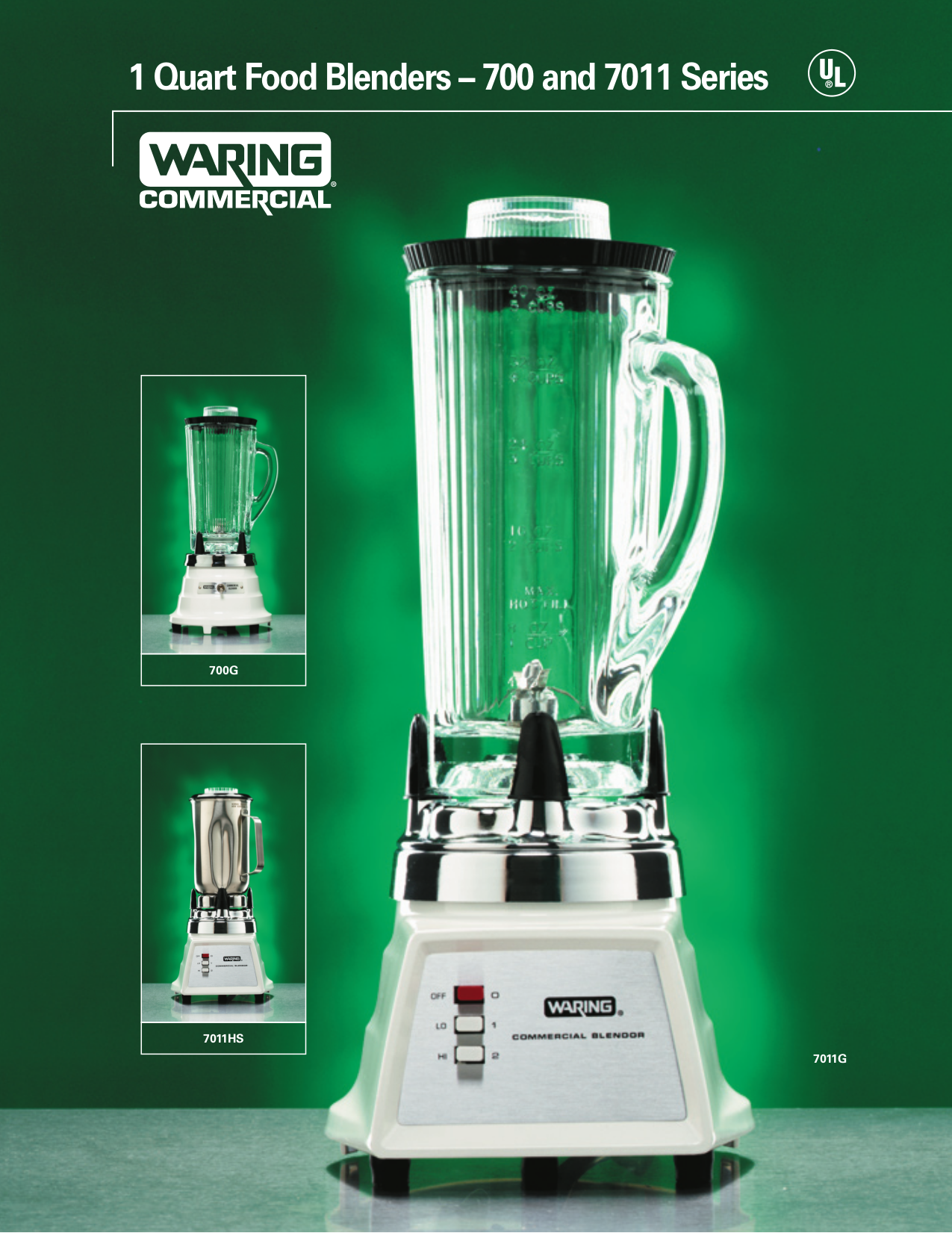pdf for Waring Other 7011S Bleanders manual