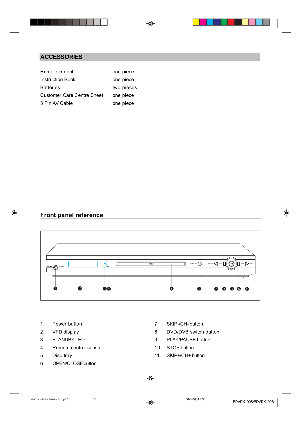 Wintal DVD Players PDVDX100S pdf page preview