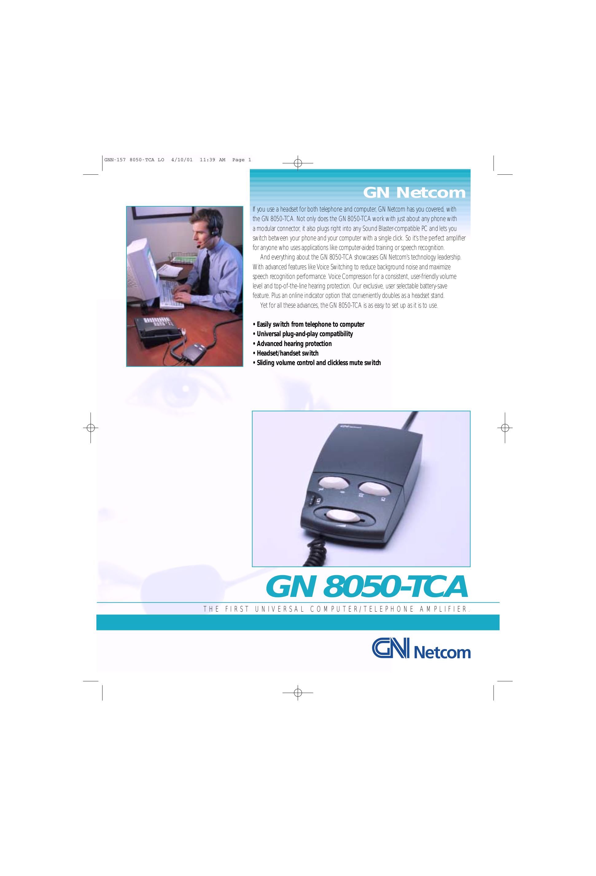 pdf for Jabra Other GN 8050 TCA Telephone Amps manual
