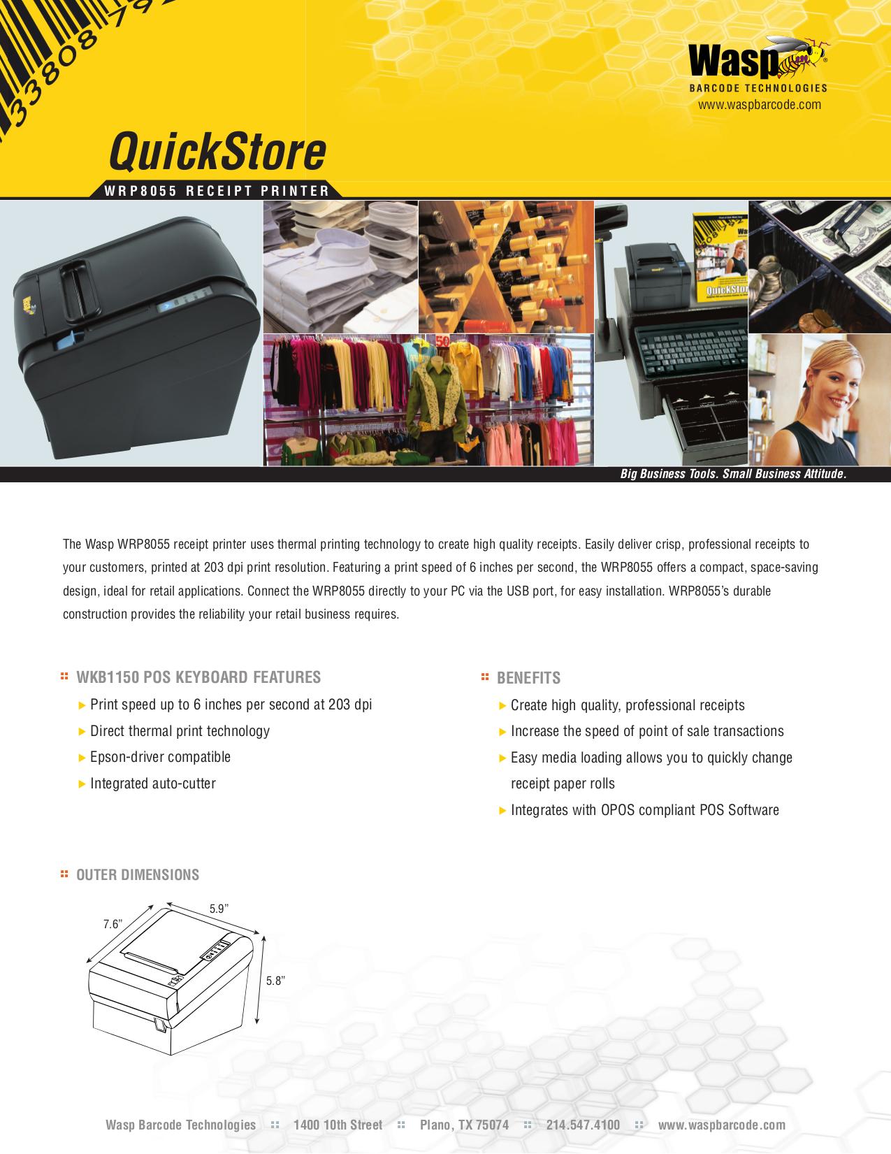 pdf for Wasp Printer WRP8055 manual