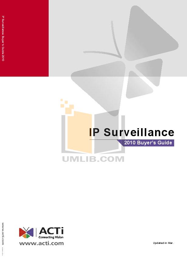 pdf for ACTi Security Camera TCM-3411 manual