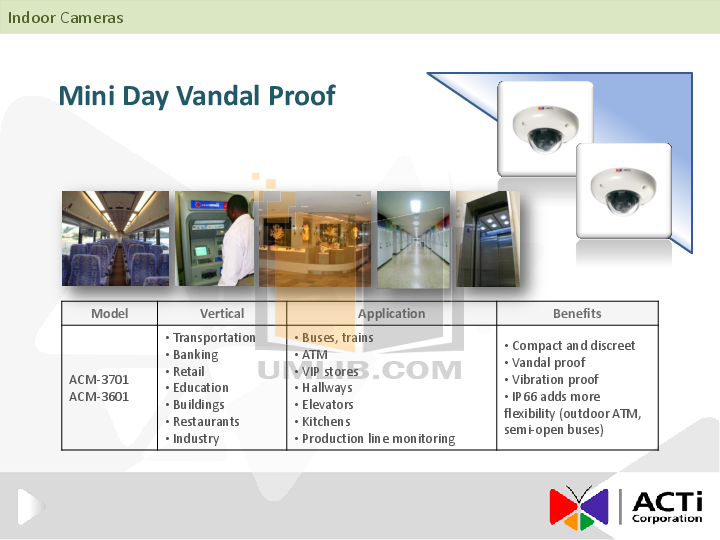 ACTi Security Camera TCM-3411 pdf page preview