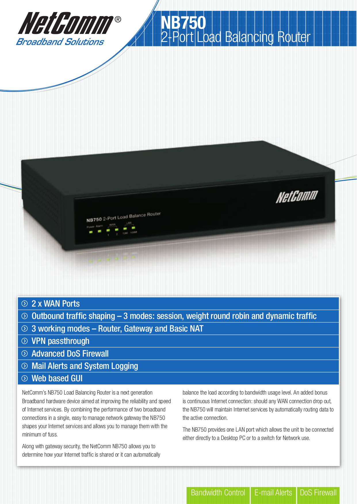 pdf for Netcomm Router NB750 manual