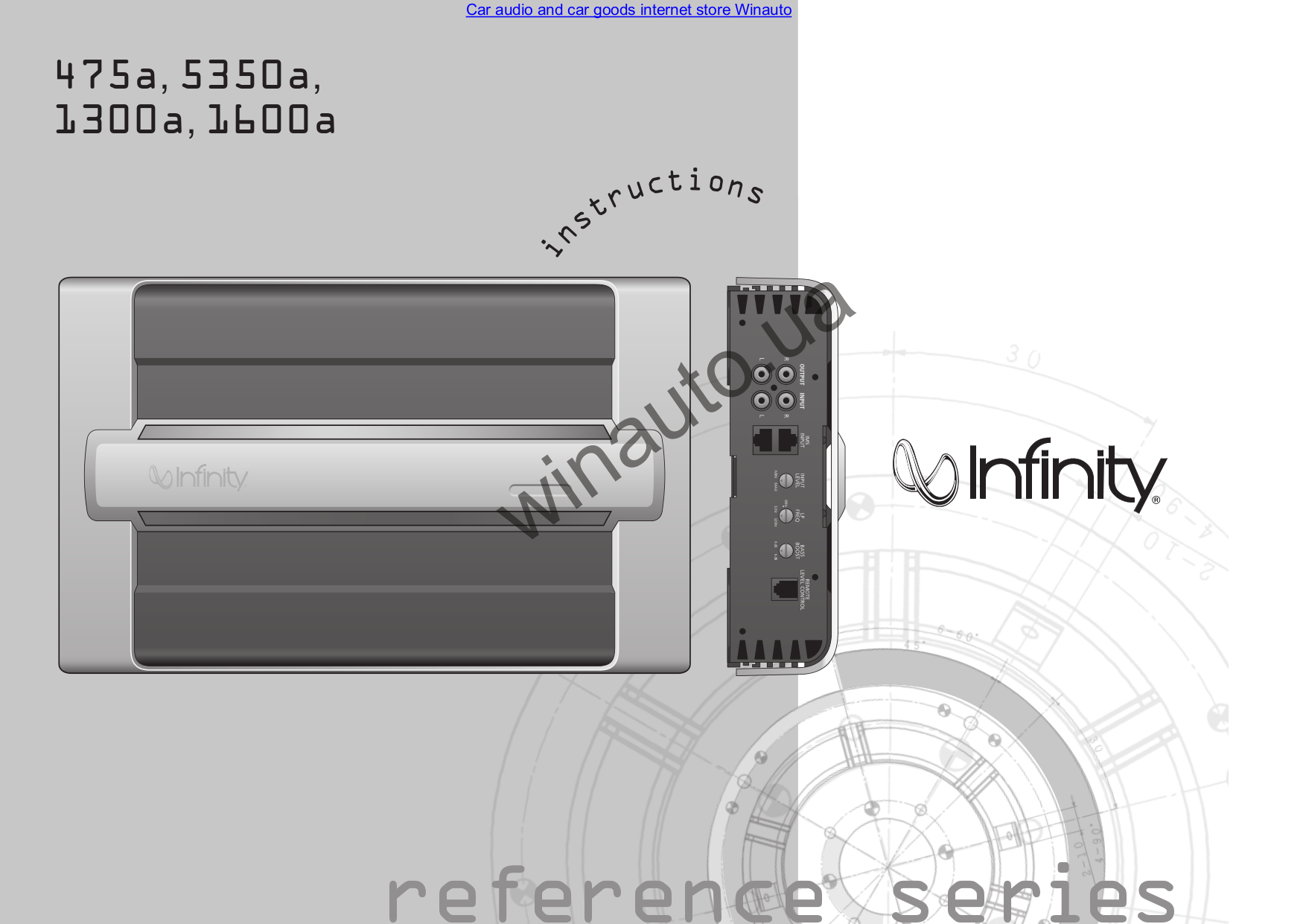 Infinity Car Amplifier Reference 5350A pdf page preview