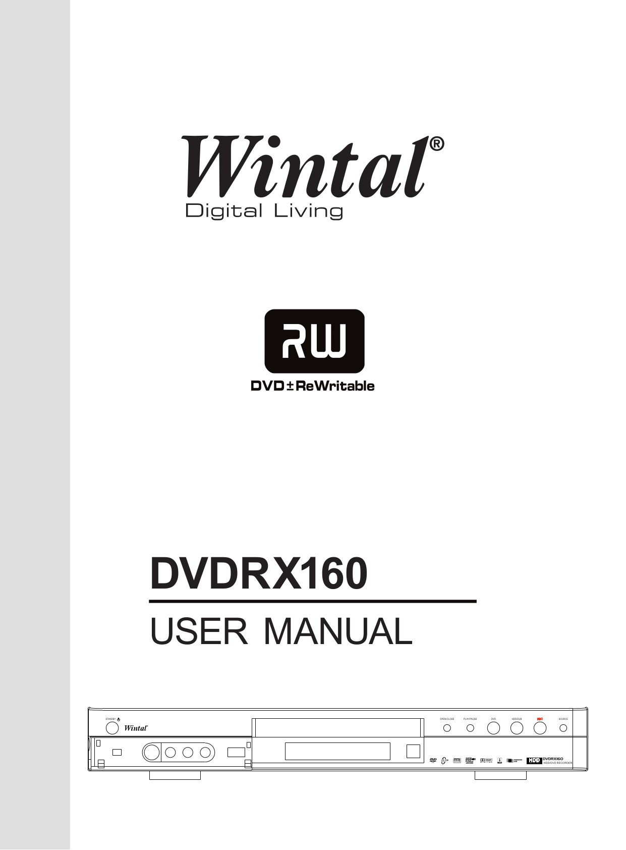 pdf for Wintal DVD Players DVDR-X160 manual