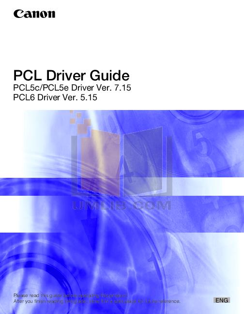 pdf for Canon Printer imageRUNNER LBP-3460 manual