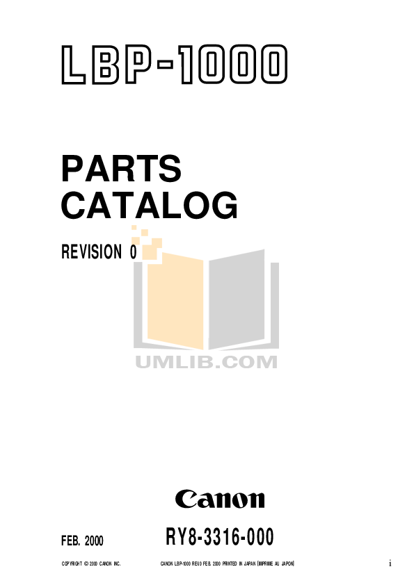 pdf for Canon Printer LBP-1000 manual
