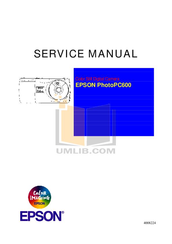 pdf for Epson Digital Camera PhotoPC 600 manual