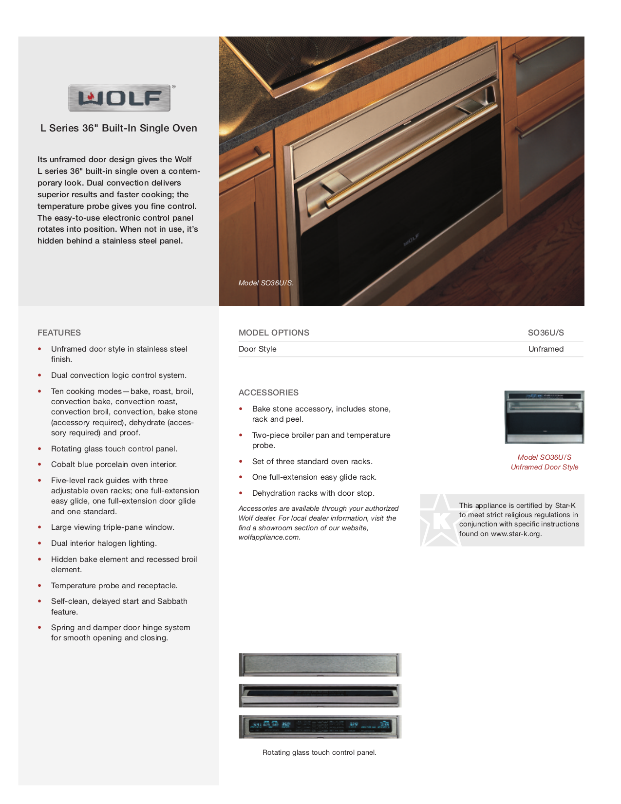 pdf for Wolf Oven L Series SO36U manual
