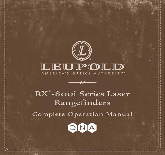 pdf for Leupold Binocular RX RANGEFINDER manual