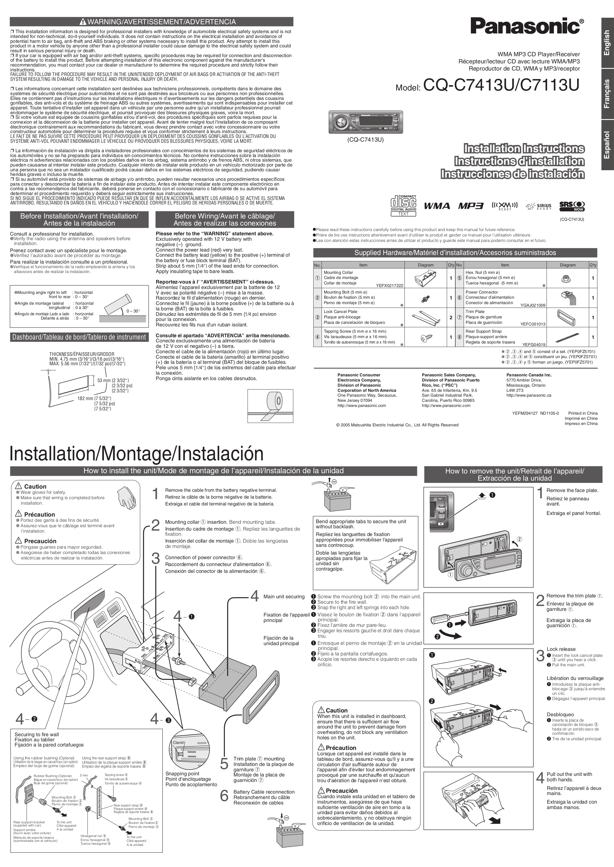 Panasonic R111u Wire Diagram Schematics Car Stereo Harness Manuals Wiring Source Cd Player Likewise