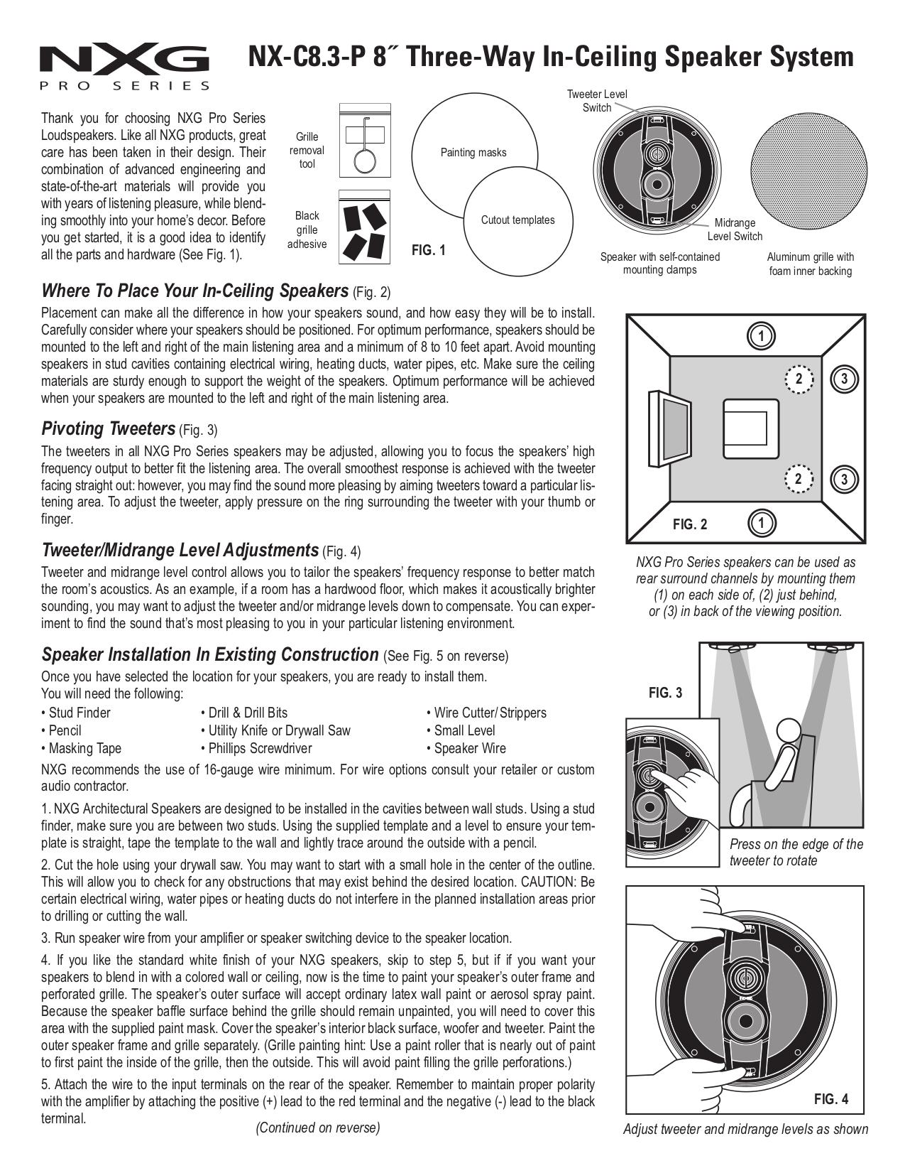 pdf for Nxg Speaker PRO 1030 manual