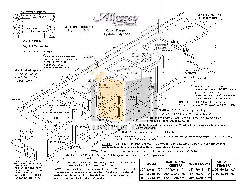 pdf for Alfresco Refrigerator ARFG-42 manual
