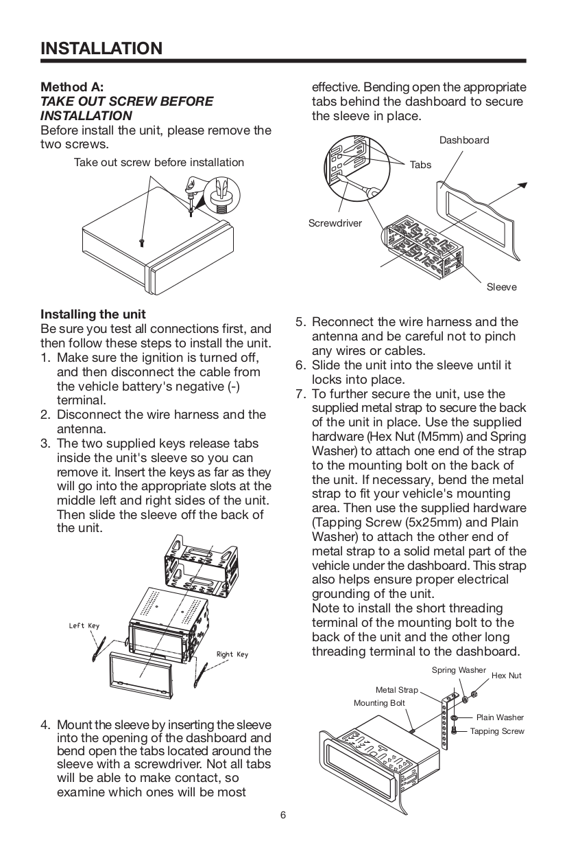 Lanzar Car Video STS65BT pdf page preview