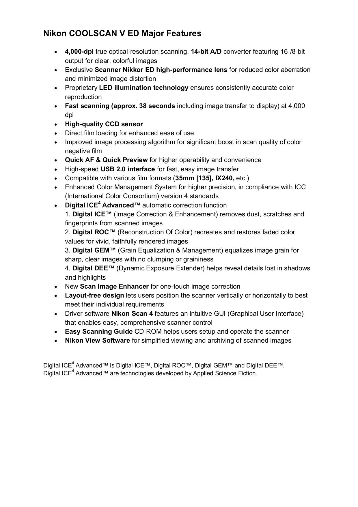 pdf for Nikon Scanner Coolscan V manual