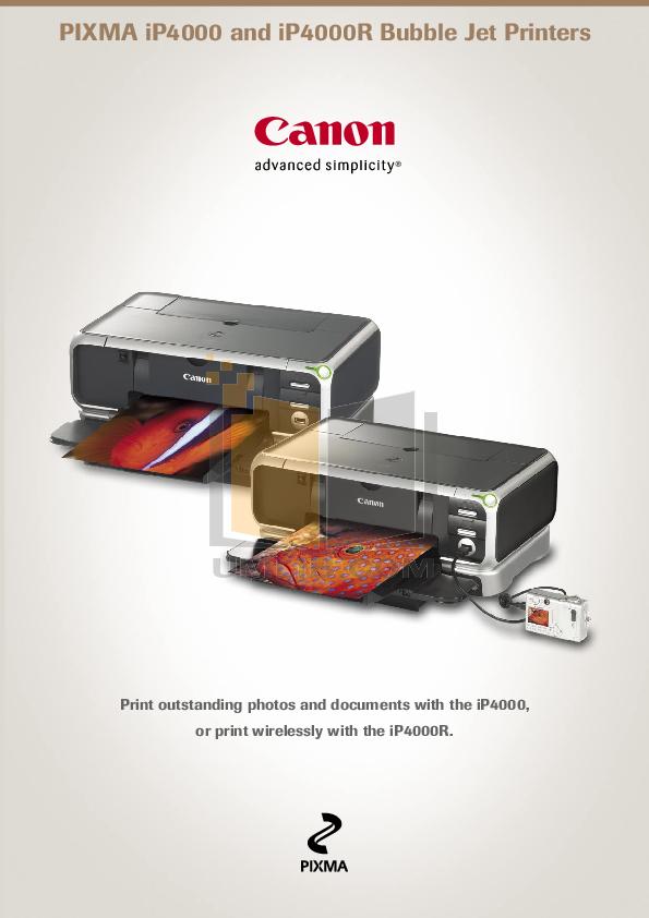 pdf for Canon Printer PIXMA iP4000 manual