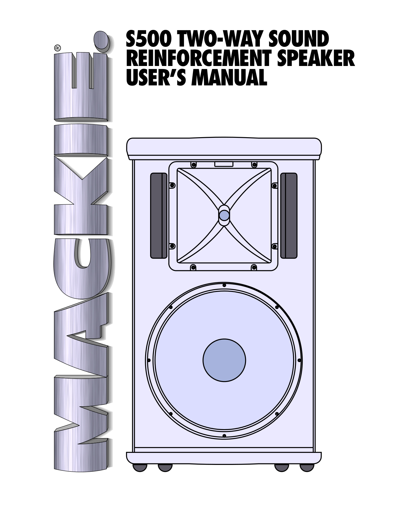 pdf for Mackie Speaker System S500 manual