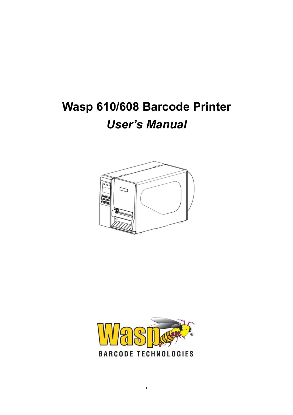pdf for Wasp Printer WPL608 manual