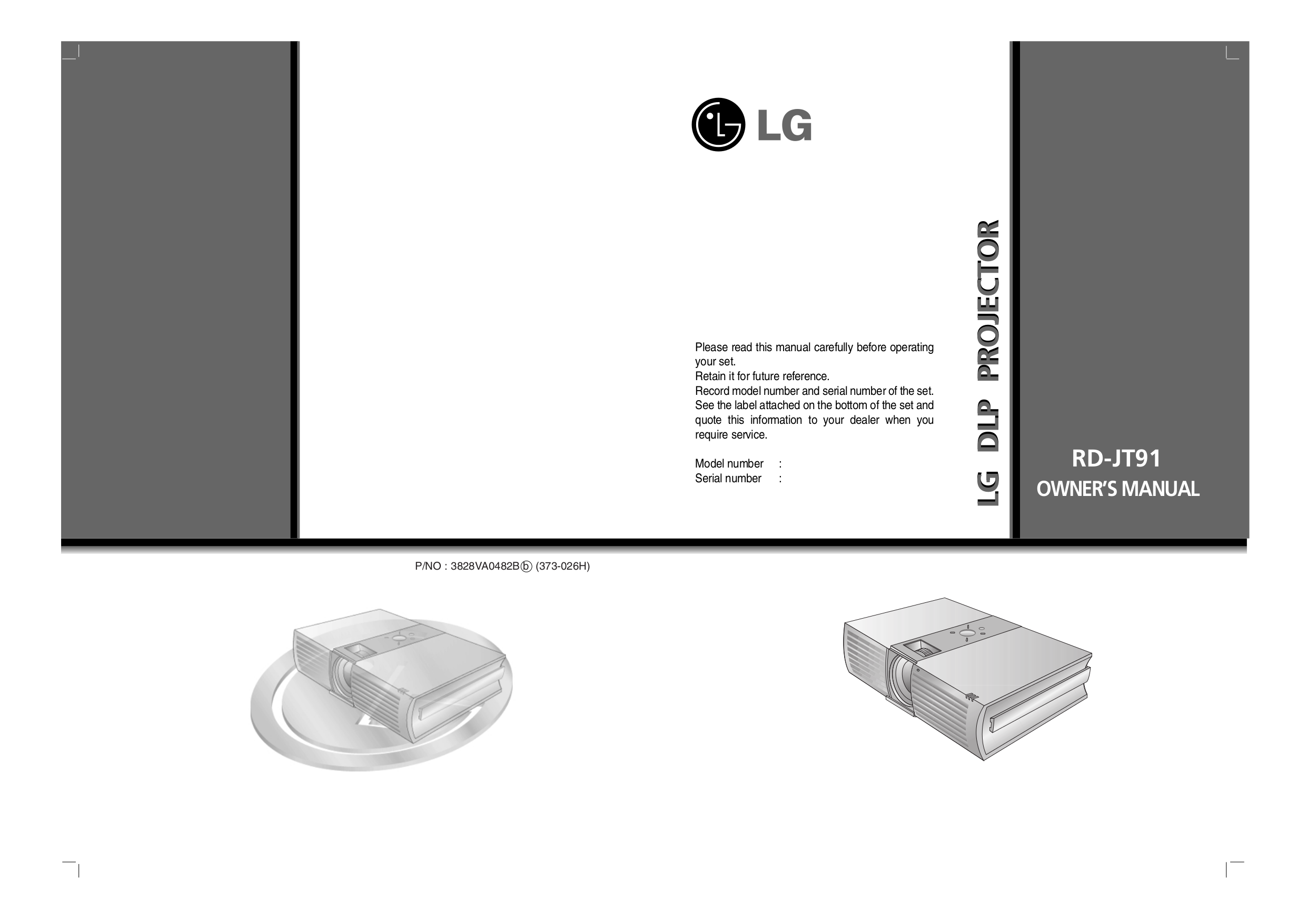 pdf for LG Projector RD-JT91 manual