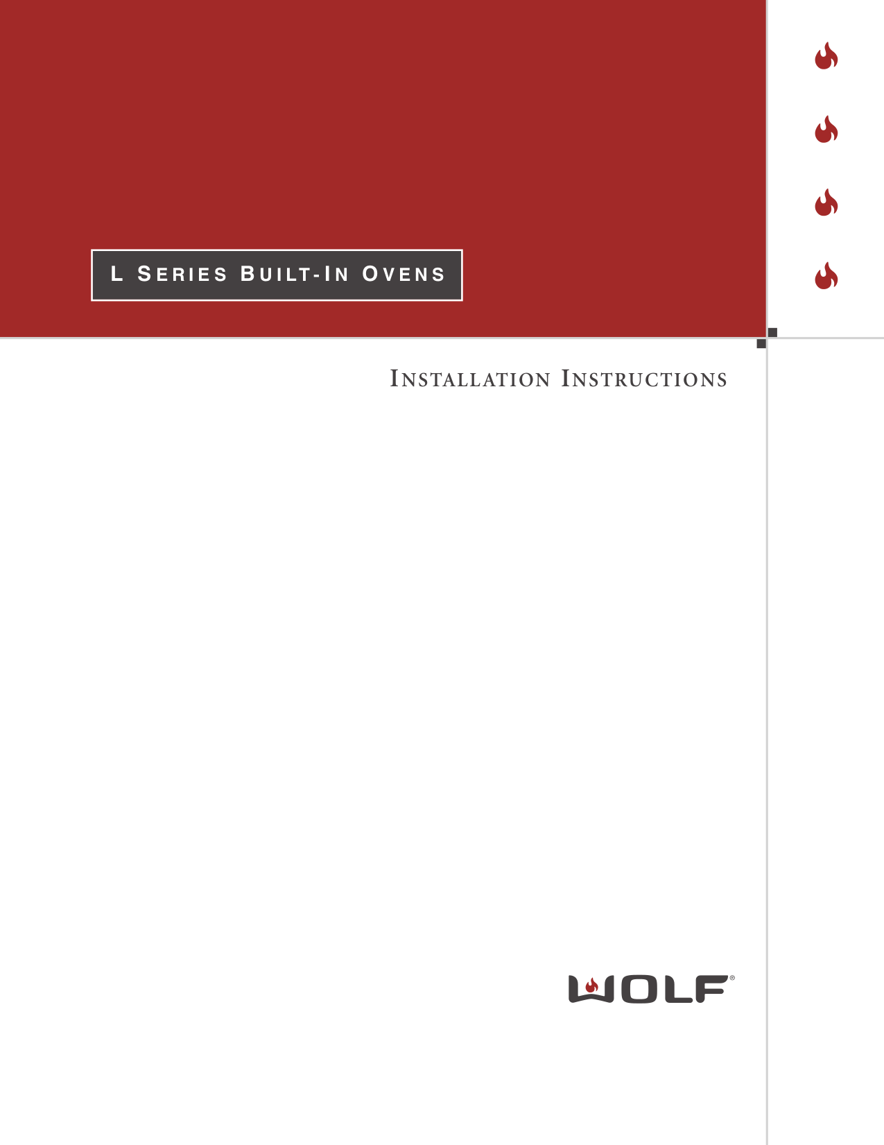 pdf for Wolf Oven L Series DO30U manual