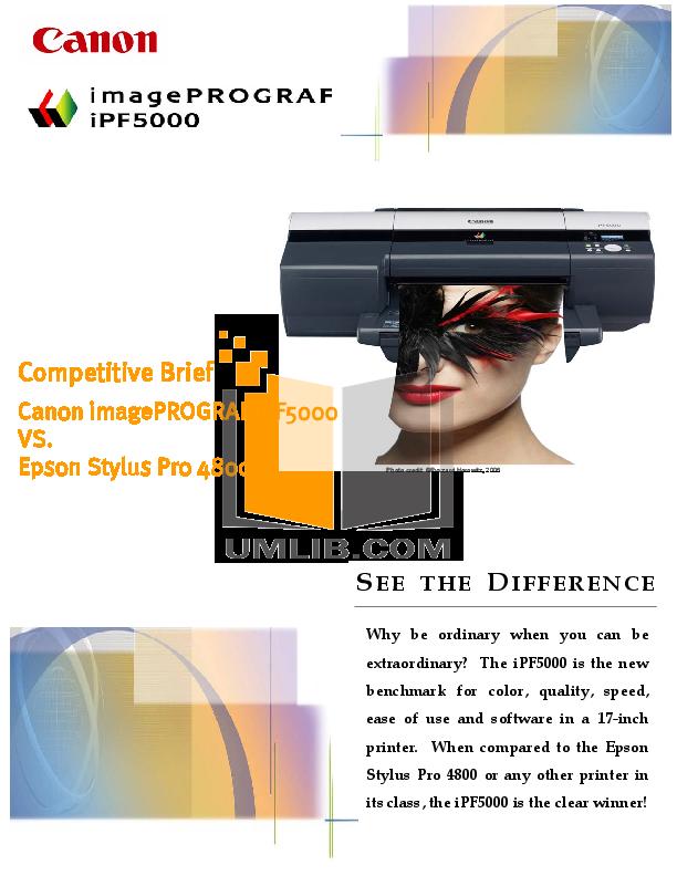 pdf for Canon Printer imagePROGRAF iPF5000 manual