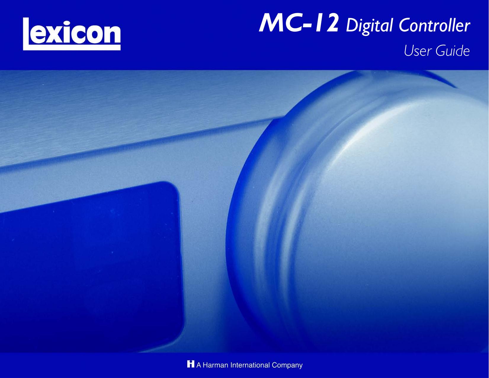 pdf for Lexicon Receiver MC-12 manual
