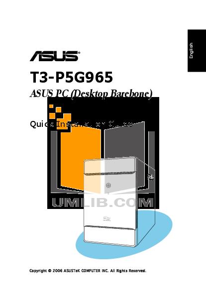 pdf for Asus Desktop T3-P5G965 manual