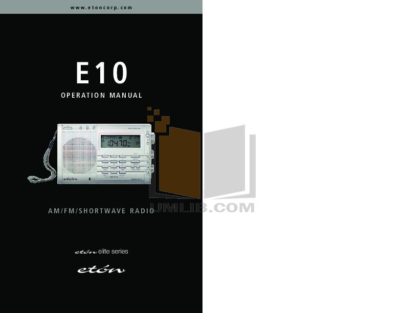Eton E1 manual