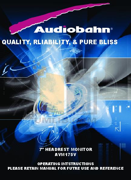 pdf for Audiobahn Car Video AVM175V manual