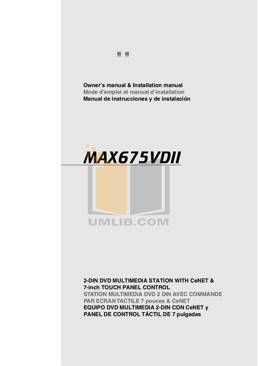pdf for Clarion Other TTX7501Z TV Tuners manual