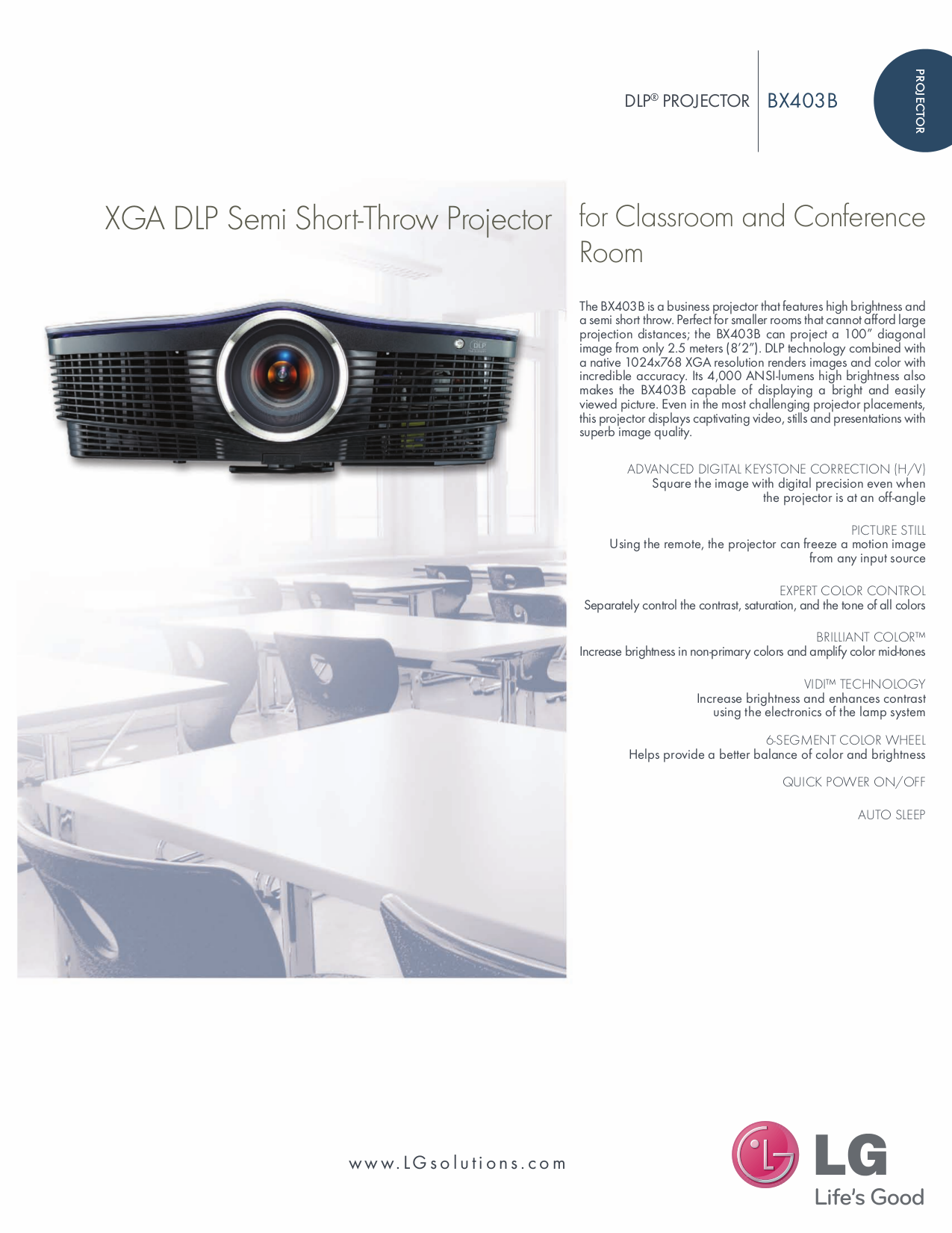 pdf for LG Projector BX403B manual