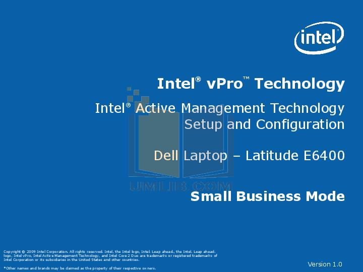 Dell E6400 pdf manual