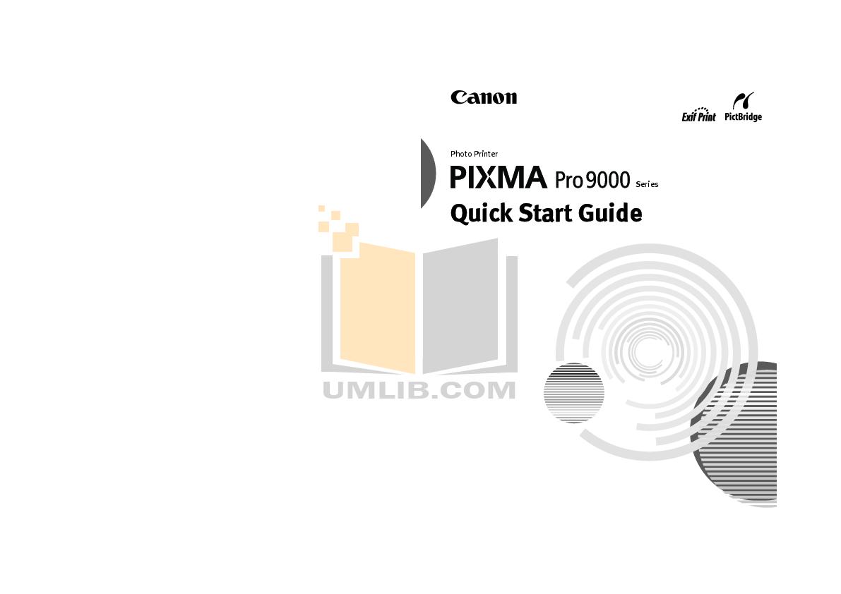pdf for Canon Printer PIXMA Pro9000 manual
