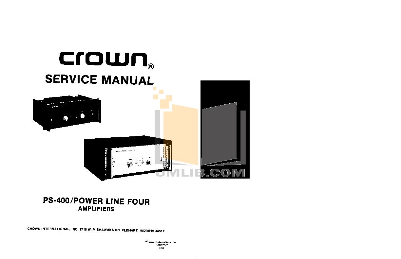 pdf for Epifani Amp PS400 manual