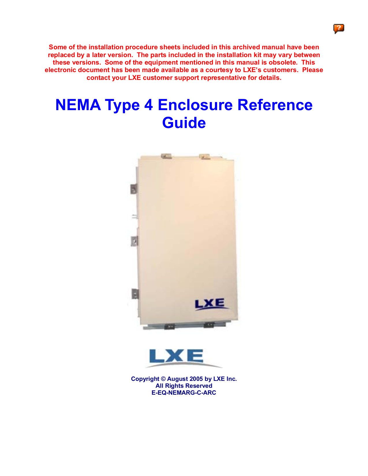 pdf for LXE Other Nema 4 Access Point manual