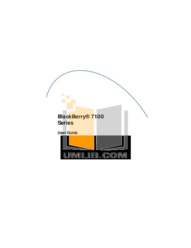 Blackberry 7100v Manual Pdf