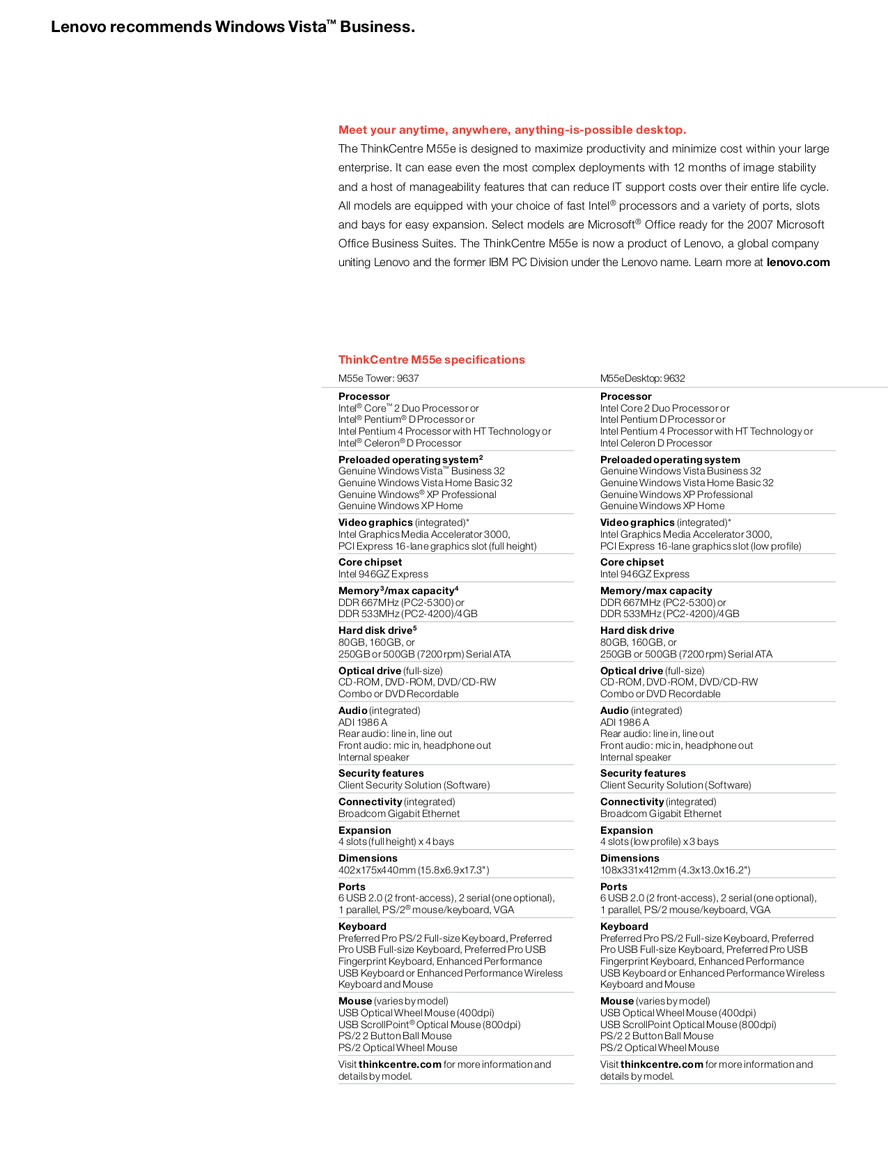 Lenovo Mouse Scrollpoint Mouse pdf page preview