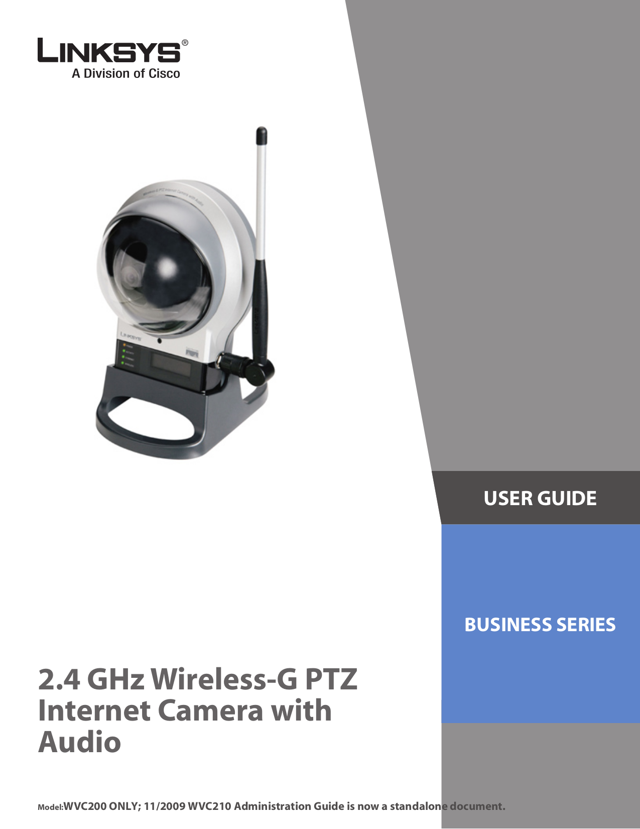 pdf for Linksys Security Camera WVC200 manual