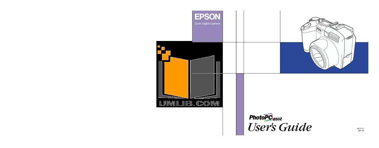pdf for Epson Digital Camera PhotoPC 850Z manual