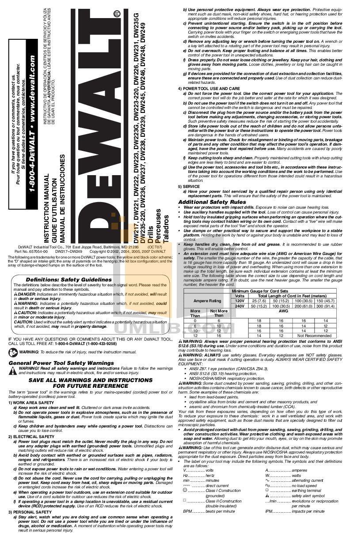 Free dewalt Manuals on