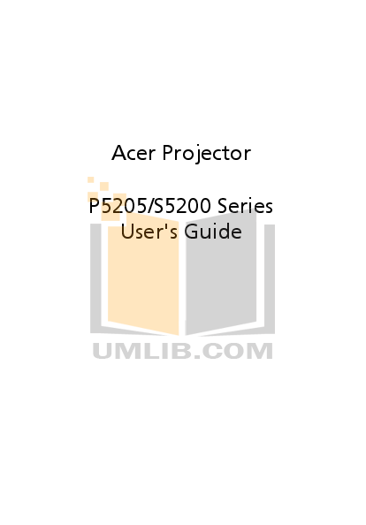 pdf for Acer Monitor X171 manual