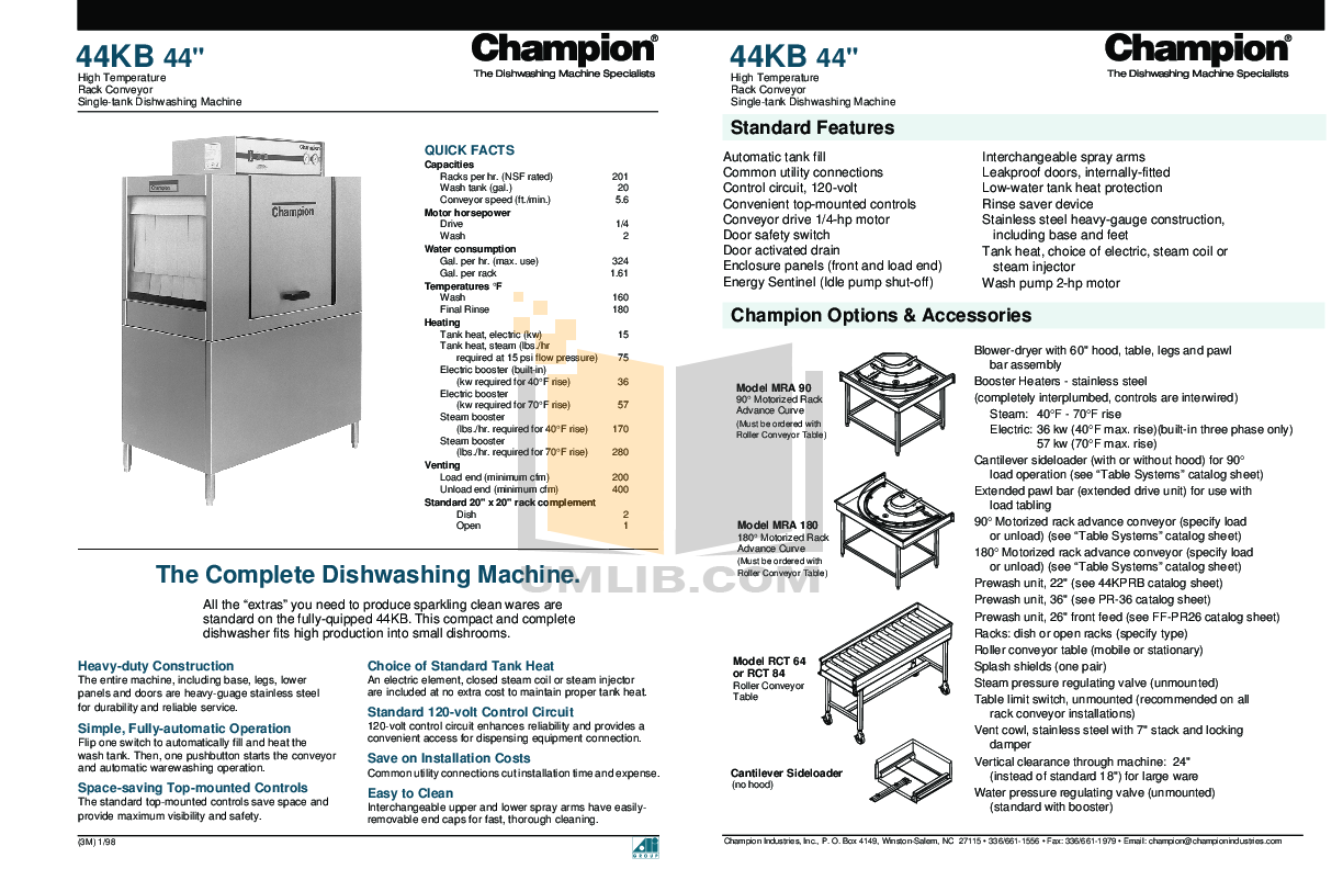 Download Free Pdf For Champion 44kprb Dishwasher Manual Electrical Wiring On Light Switch Diagram Power Into 44kb