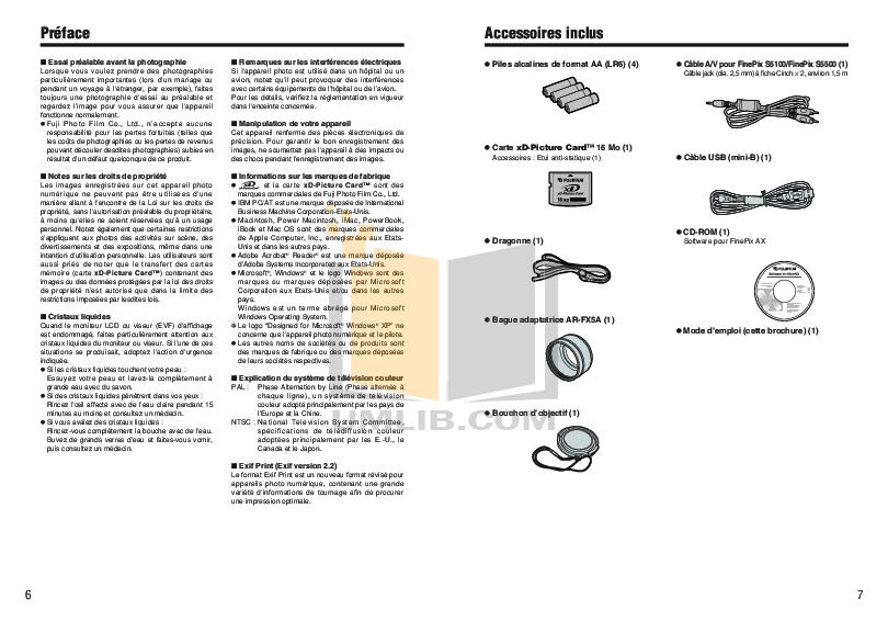 Fuji finepix s5500 manual Pdf