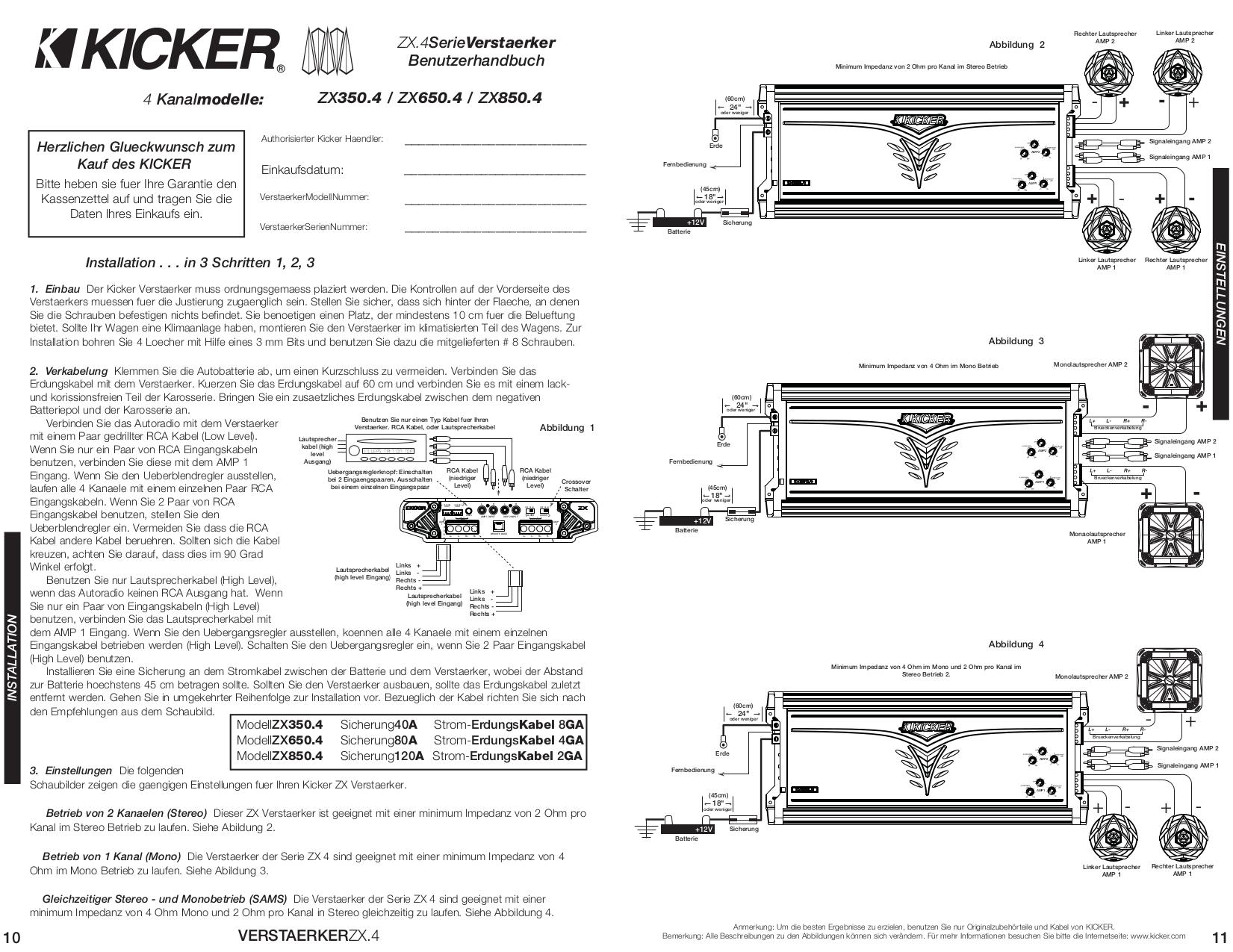 Kicker 5 Channel Car Lifier On Kicker Cx600 1 Amp Wiring Diagram