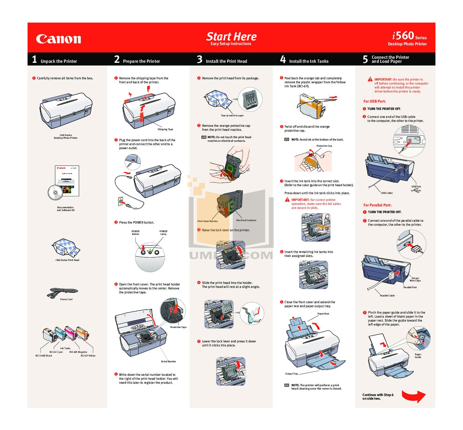 pdf for Canon Printer i560 manual