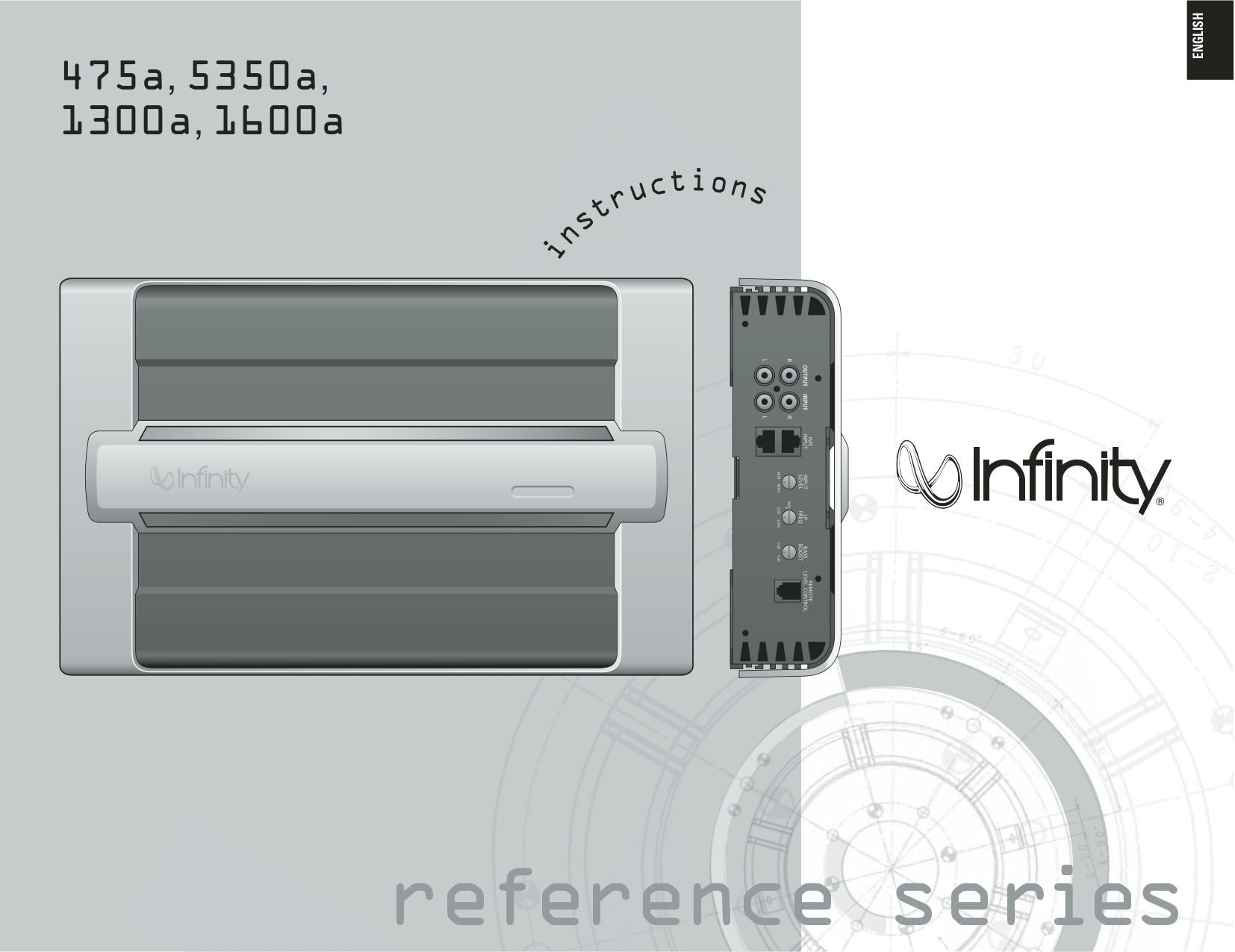 pdf for Infinity Car Amplifier Reference 1600A manual