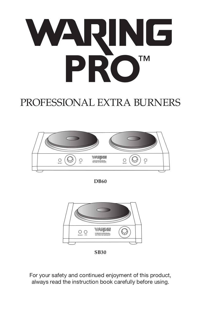 pdf for Waring Other SB30 Burners manual