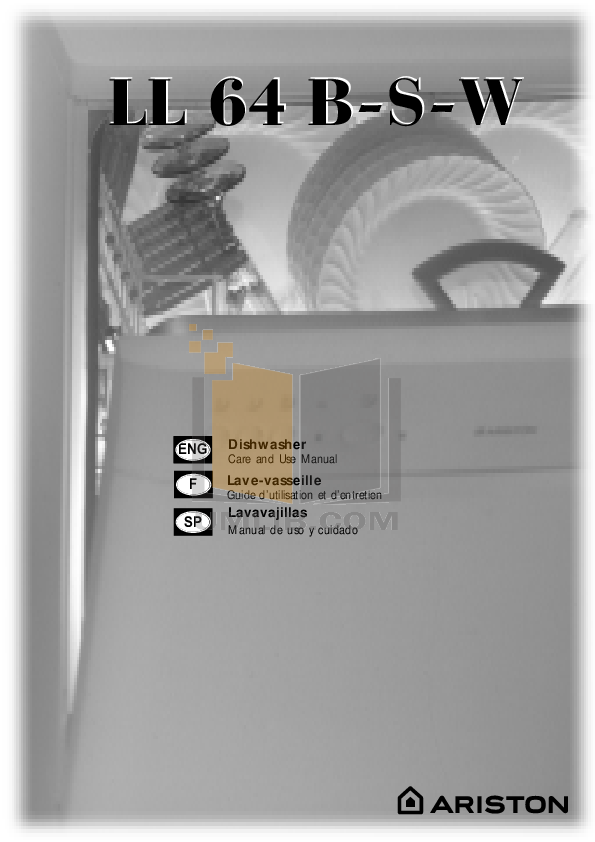 pdf for Ariston Dishwasher LL 64 B NA manual